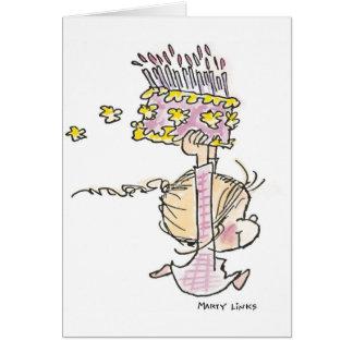 Mädchen-Betrieb des Geburtstags-BD-001 Grußkarte
