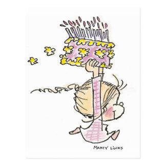 Mädchen-Betrieb des Geburtstags-BD-001 Postkarten