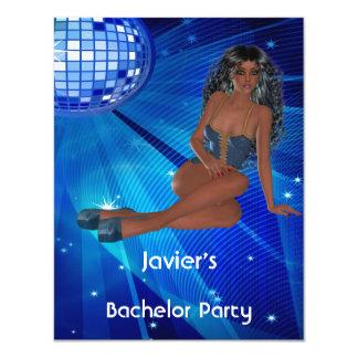 Mädchen-blauer Disco-Verein des 10,8 X 14 Cm Einladungskarte