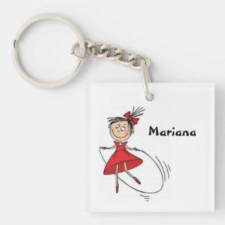 Mädchen-Cartoon Schlüsselkette Schlüsselring