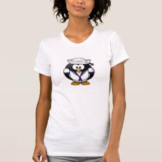 Mädchen/der Penguin-Seemann-Shirt der Frauen T-Shirt