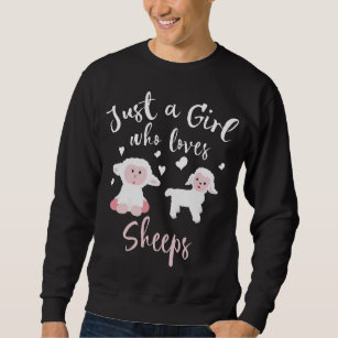 Mädchen, die Lieben Schafe Lover Lamb Kid Schafe  Sweatshirt