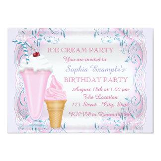 Mädchen-Eiscreme-Geburtstags-Party 11,4 X 15,9 Cm Einladungskarte
