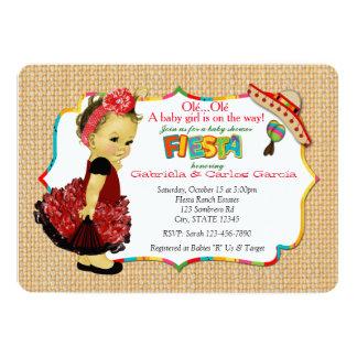 Mädchen-Fiesta-Baby-Duschen-Einladungs-Party 083 Karte