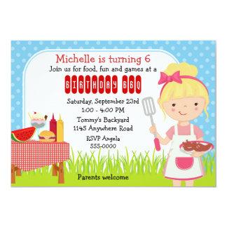 Mädchen-Geburtstag GRILLEN 12,7 X 17,8 Cm Einladungskarte