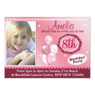 Mädchen-Geburtstags-Foto-Einladung - irgendein