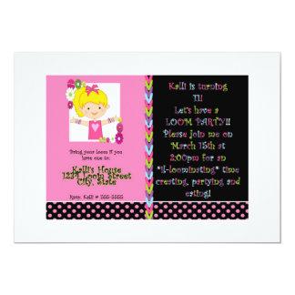 Mädchen-Geburtstags-Party 12,7 X 17,8 Cm Einladungskarte