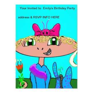 Mädchen-Geburtstags-Party Einladung