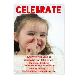 Mädchen-Geburtstags-Party-Foto-Einladungen