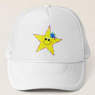 Mädchen-gelbe smiley-Stern-Kappe Truckerkappe