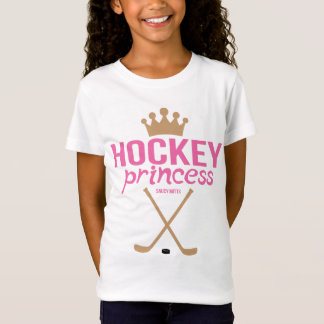 Mädchen-Hockey-Prinzessin Pink Sticks T-Shirt