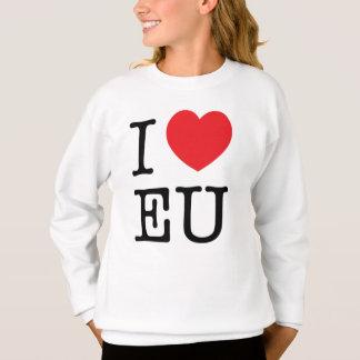 """Mädchen-""""ich Herz EU-"""" Sweatshirt"""