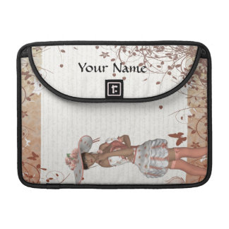 Mädchen im Sommerhut MacBook Pro Sleeve