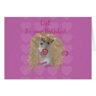 Mädchen ist es Ihr Geburtstag! Grußkarte