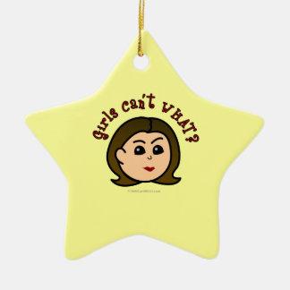 Mädchen können nicht, WAS? Logo-Scheinwerfer Keramik Stern-Ornament