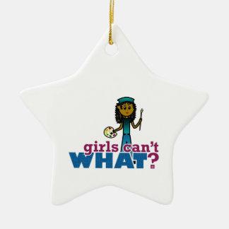 Mädchen-Künstler Keramik Stern-Ornament