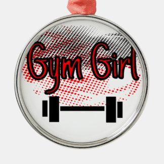 Mädchen-Mädchen Silbernes Ornament