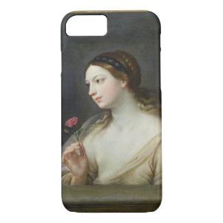 Mädchen mit einer Rose (Öl auf Leinwand) iPhone 8/7 Hülle