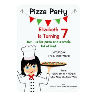 Mädchen-Pizza-Party-Geburtstags-Einladung 11,4 X 15,9 Cm Einladungskarte