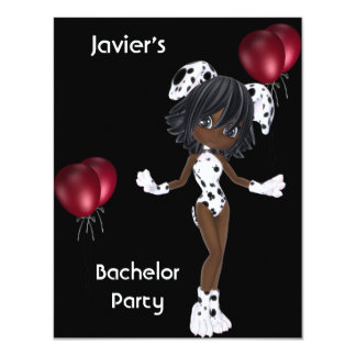 Mädchen-Schwarz-weiße rote Ballone des 10,8 X 14 Cm Einladungskarte