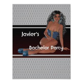 Mädchen-Silber-Bolzen des Junggeselle-Party-S… exy 10,8 X 14 Cm Einladungskarte