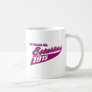 Mädchen stellte 98 her kaffeetasse