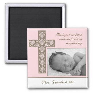 Mädchen-Taufe/Taufbevorzugung - Foto-Magnet Magnete