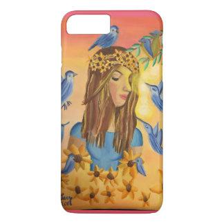 Mädchen und Vögel iPhone 7 Plus Hülle