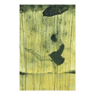 Mädchentanzen im Regen Briefpapier