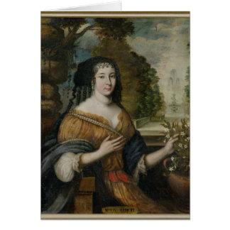 Madeleine de Scudery Grußkarte