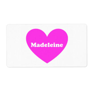 Madeleine Versandetiketten