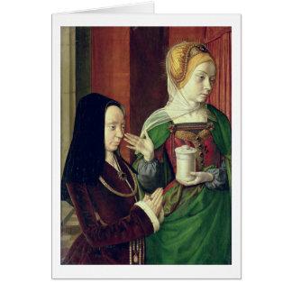 Madeleine vom Burgund stellte sich durch St Mary M Grußkarte