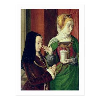 Madeleine vom Burgund stellte sich durch St Mary Postkarte