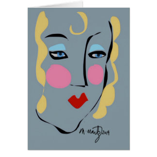 Madeleine war für Matisse wütend Grußkarte