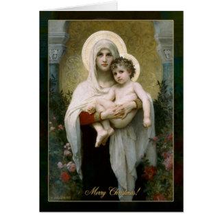 Madona mit Rosen Grußkarte