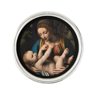 Madonna-MED Kristusbarnet Anstecknadel