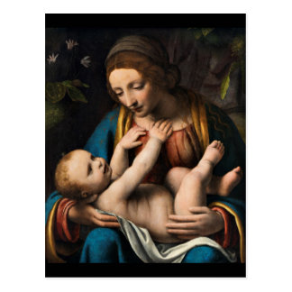 Madonna-MED Kristusbarnet Postkarte