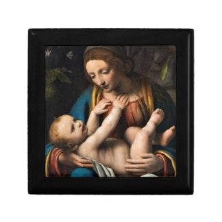 Madonna-MED Kristusbarnet Schmuckschachtel