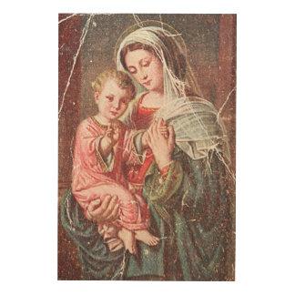 Madonna und Kind Holzwanddeko