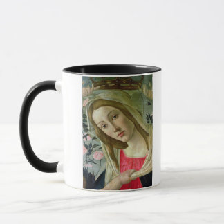 Madonna und Kind krönten durch Engel, Detail von Tasse