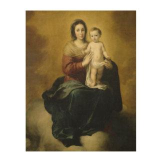 Madonna und Kind, Kunst-hölzerne Wand-Kunst Holzleinwände