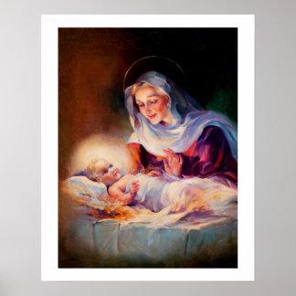 Madonna und Kind. Kunst-Plakat Poster
