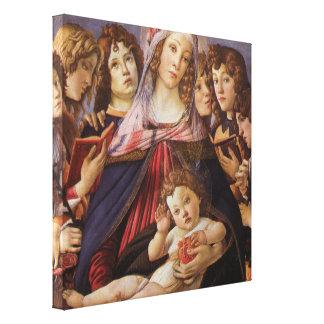 Madonna und Kind mit Engeln durch Sandro Leinwanddruck