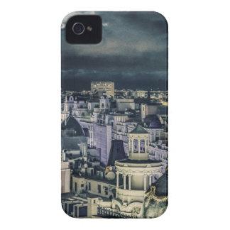Madrid-Stadtbild-Nachtszenen-Luftaufnahme iPhone 4 Cover