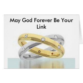 Mag Gott Ihre Verbindung für immer sein Grußkarte