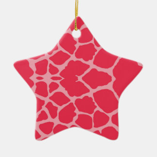 Magentaroter Giraffen-Druck Keramik Ornament