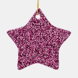 Magentaroter rosa Imitat-Glitter Keramik Ornament