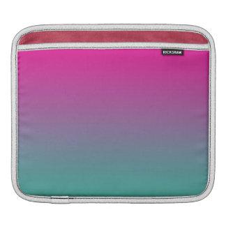 Magentarotes lila u. aquamarines Ombre Sleeve Für iPads