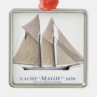 Magie 1870 silbernes ornament