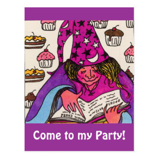 Magie-Kuchen Postkarte